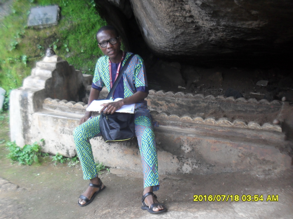 "alt= ""grave of late Chief Sanni Ajimatanikuje in Olumo rock"""