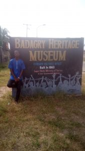 Outside the Badagry Heritage museum