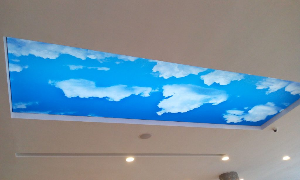 The ceiling of Mega chicken agidingbi