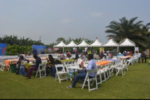 The setting at the Jollof festival