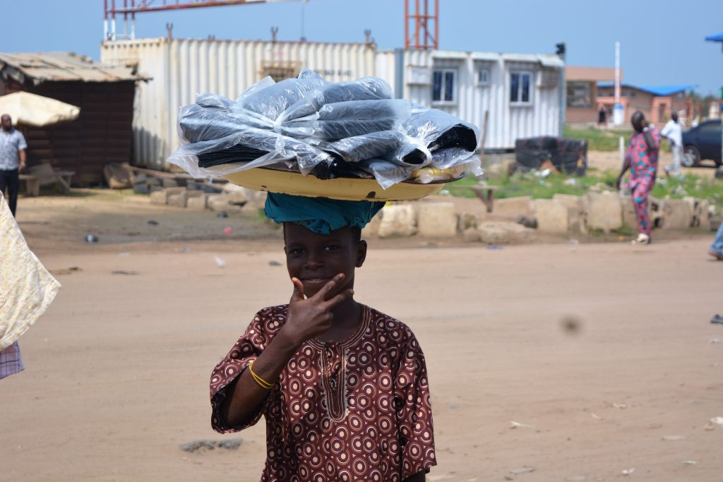 A teenage trader in Seme border