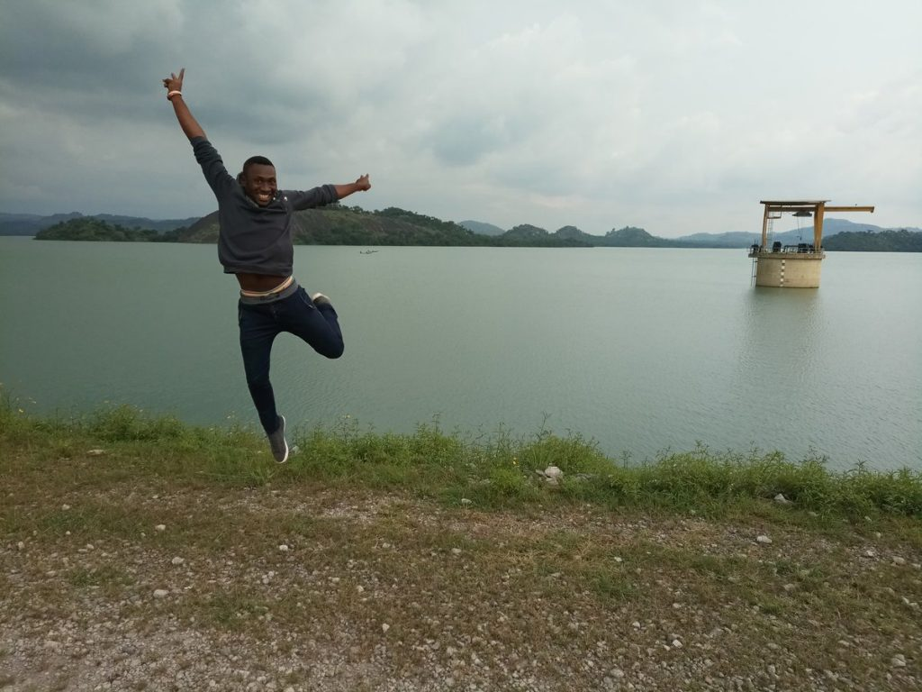 Sayi enjoying himself in one of the underrated destinations in Nigeria