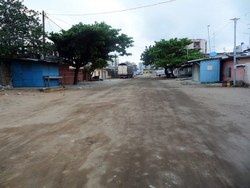 A typical Street contributing to the facts about Benin republic