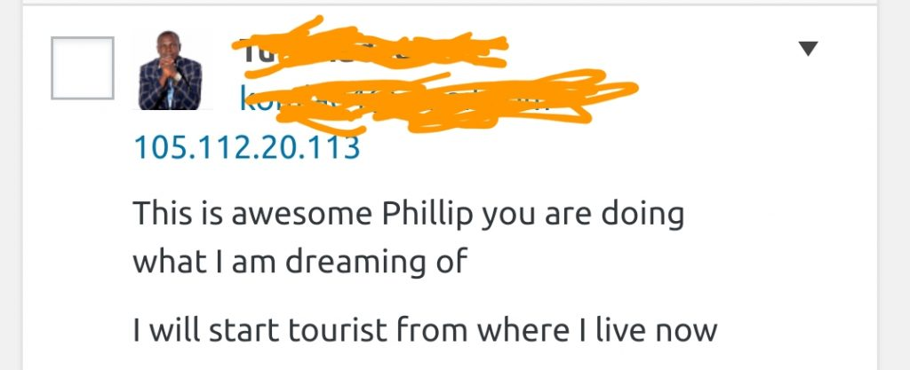 Comment from a fan who has always wanted to Travel