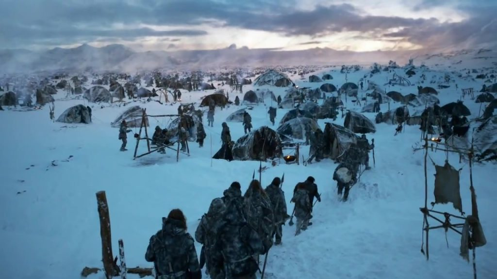 The Wildling Camp, one of game of thrones locations