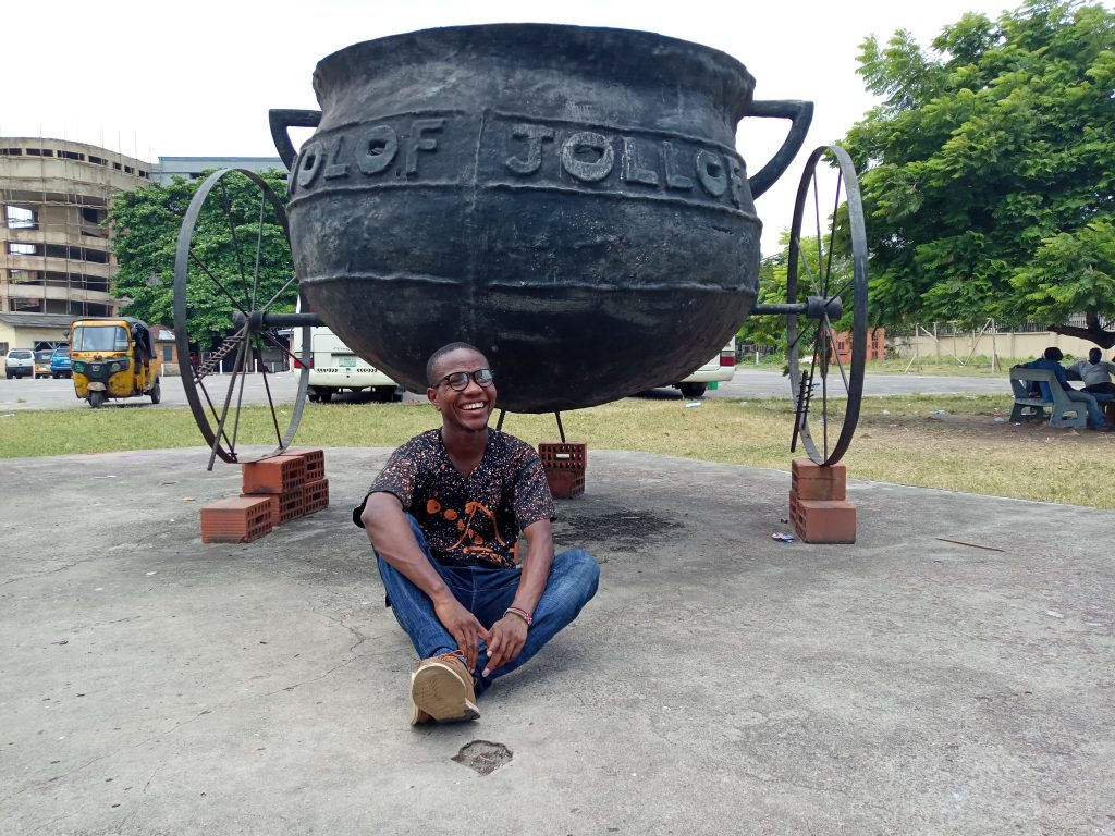 The giant jollof pot at the national museum lagos