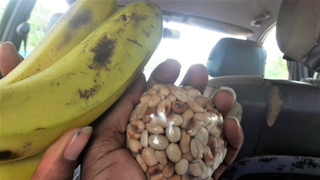Banana and groundnuts on the road to Agbokim waterfalls