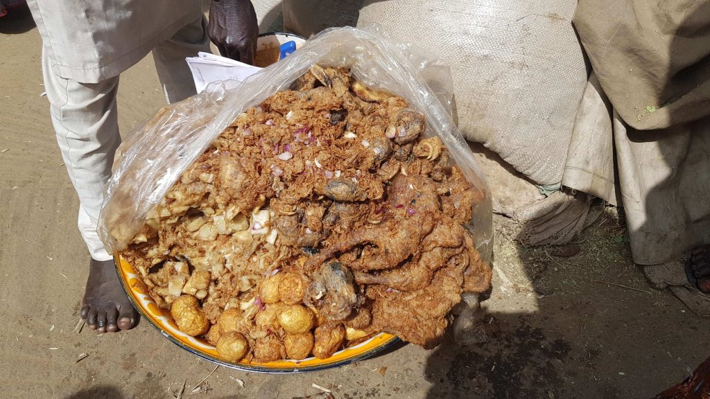 Street food in Kurmi Market, Kano