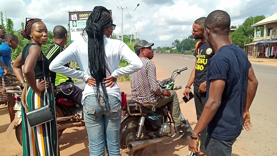 Trying to get bikes to Ogbunike cave