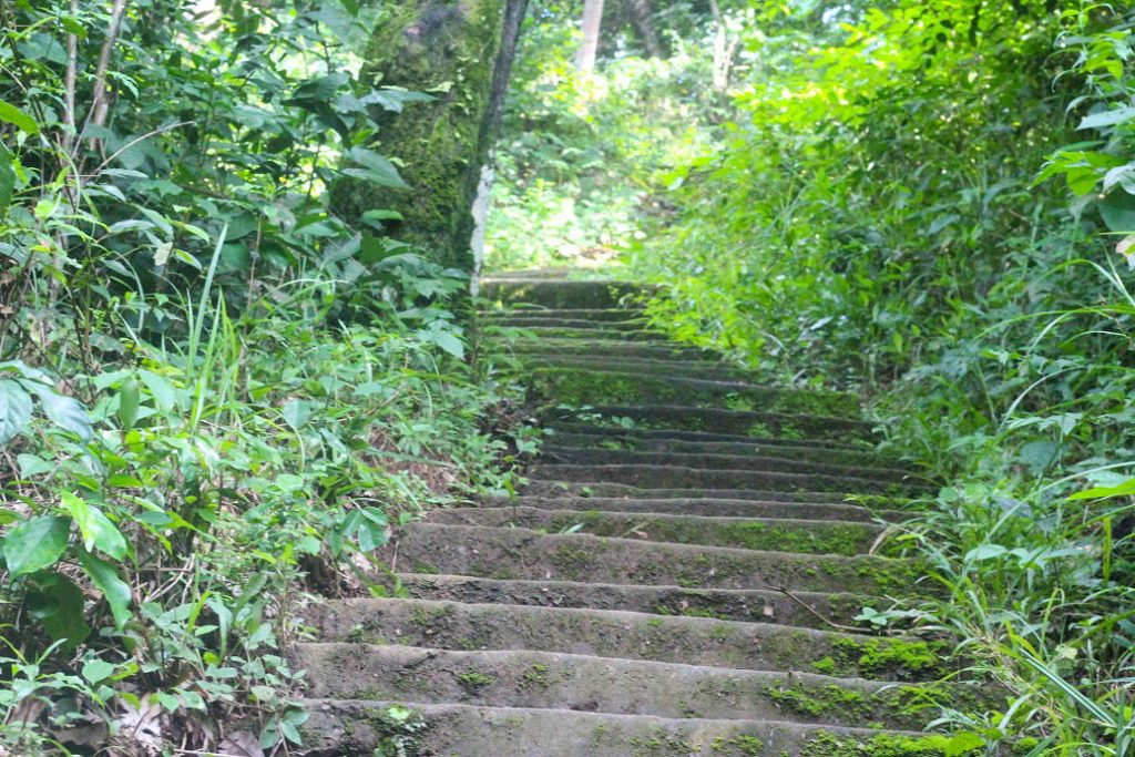 Staircase leading downwards towards the Ogbunike cave