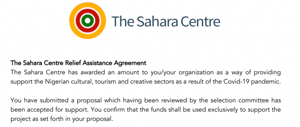 the sahara centre agreement